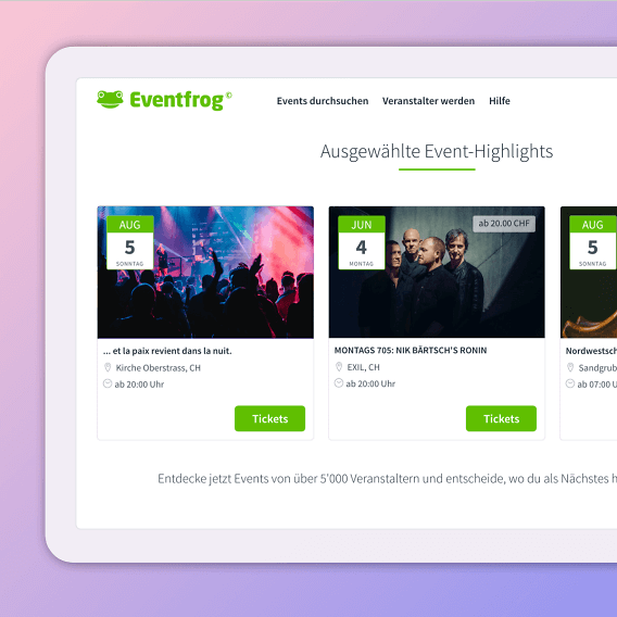 Eventfrog Web Highlight