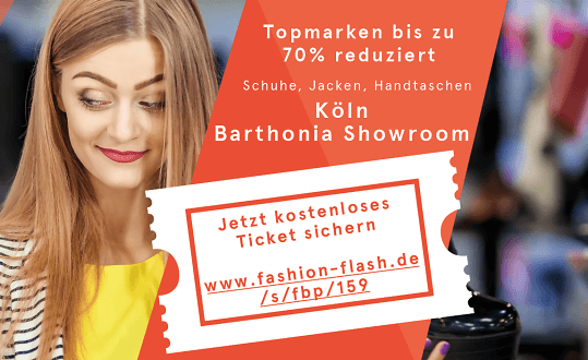 Fashion Flash Köln - Das Outlet Event in deiner Stadt!  Barthonia Showroom Tickets