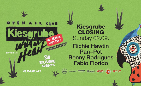 Kiesgrube Open Air - Closing w/ Richie Hawtin, Pan-Pot, Benny Rodrigues  Kiesgrube Tickets