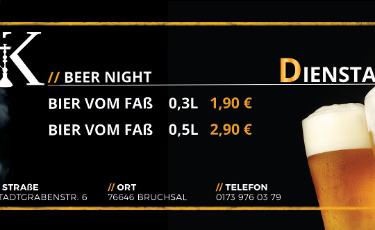 Beer Night KULTeum Café • Bar • Lounge Tickets