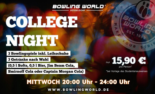 College Night Bowling World Düsseldorf Tickets