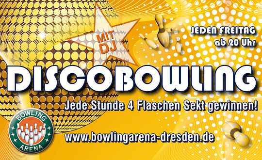 DISCOBOWLING mit DJ BOWLING-ARENA Dresden Tickets
