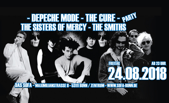 DeMode * Cure * Sisters * Smiths Party Das Sofa Tickets
