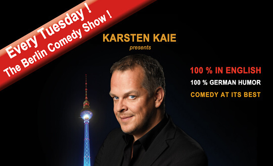 """HOW TO BECOME A BERLINER IN ONE HOUR ?""  Karsten Kaie Comedy Club Kookaburra Tickets"