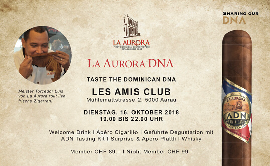 La Aurora Tasting Evening Les Amis.Club Tickets
