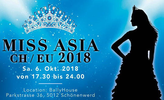 Miss Asia CH/EU 2018 BallyHouse Tickets
