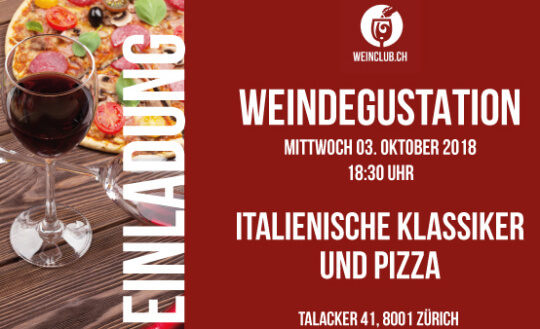 Wein-Degustation von Weinclub.ch Stripped Pizza Tickets