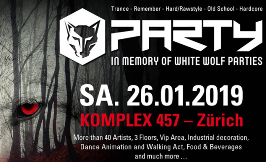 In memory of White Wolf parties Komplex N 457 Tickets